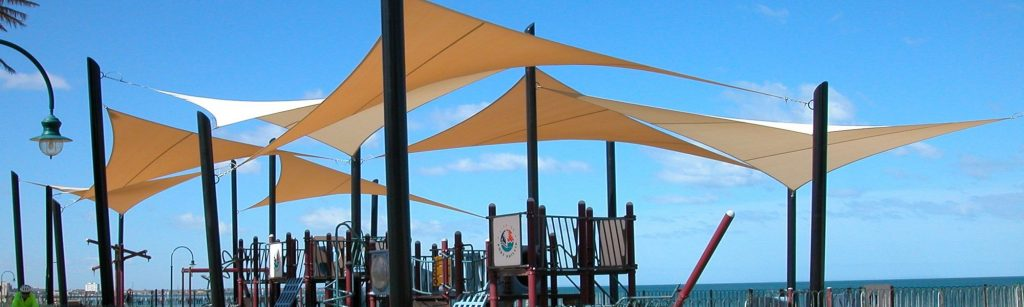 Sun-Shade-Sail-Canopy-Over Childrens-Play-Ground
